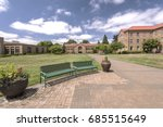 the abbey architecture and park ... | Shutterstock . vector #685515649