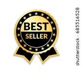 ribbon award best seller. gold... | Shutterstock .eps vector #685516528