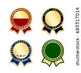 award ribbons isolated set.... | Shutterstock .eps vector #685517014