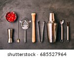 set of cocktail bar utensils... | Shutterstock . vector #685527964