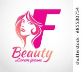 abstract letter f logo  beauty... | Shutterstock .eps vector #685530754
