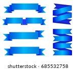 vector set of blue ribbon...   Shutterstock .eps vector #685532758
