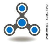 spinner fidget vector icon....   Shutterstock .eps vector #685534540