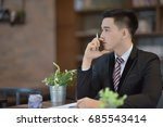 young attractive asian business ... | Shutterstock . vector #685543414
