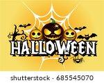 halloween cartoon | Shutterstock .eps vector #685545070