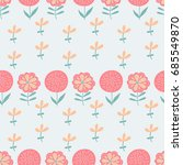 vector seamless pattern with... | Shutterstock .eps vector #685549870