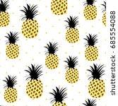 cute pineapples background....   Shutterstock .eps vector #685554088
