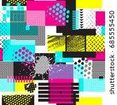 seamless geometric pattern in... | Shutterstock .eps vector #685555450
