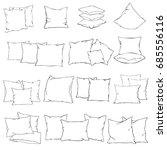 pillow  silhouette  vector ... | Shutterstock .eps vector #685556116