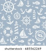 nautical background  seamless ...   Shutterstock .eps vector #685562269