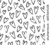 hand drawn grunge seamless... | Shutterstock .eps vector #685564108