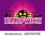 halloween cartoon | Shutterstock .eps vector #685565998
