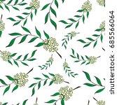 hand drawn seamless of sorbus... | Shutterstock .eps vector #685566064