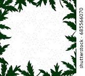 herbal square frame greeting... | Shutterstock .eps vector #685566070