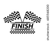 racing flag icon vector | Shutterstock .eps vector #685568200