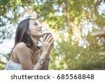 young beautiful woman feeling... | Shutterstock . vector #685568848