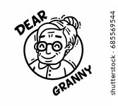 logo dear granny black and... | Shutterstock .eps vector #685569544