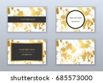 set of white  black and gold... | Shutterstock .eps vector #685573000