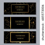 set of black and gold banners... | Shutterstock .eps vector #685573006