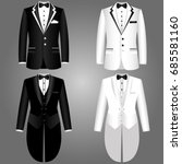 men's jacket. collection.... | Shutterstock .eps vector #685581160