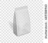transparent blank plastic or... | Shutterstock .eps vector #685588960