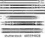 tire tracks . dirty grunge... | Shutterstock .eps vector #685594828