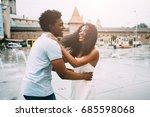 positive emotional photo of... | Shutterstock . vector #685598068