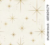 seamless night sky pattern.... | Shutterstock . vector #685604179
