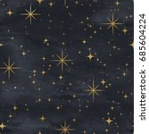 seamless night sky pattern.... | Shutterstock . vector #685604224