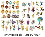 greek roman mythology gods ... | Shutterstock .eps vector #685607014