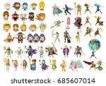 greek roman mythology gods ... | Shutterstock .eps vector #685607014