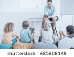 lessons in an unusual classroom ... | Shutterstock . vector #685608148