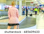 baggage reclaimed at the... | Shutterstock . vector #685609633