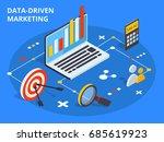data driven marketing concept... | Shutterstock .eps vector #685619923