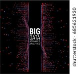 big data abstract vector... | Shutterstock .eps vector #685621930