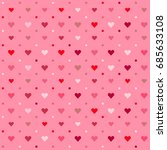 seamless patterns with hearts.... | Shutterstock . vector #685633108