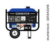 diesel generator. flat vector...   Shutterstock .eps vector #685642648