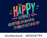 vector of colorful stylized... | Shutterstock .eps vector #685646794