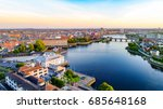 aerial view of limerick city ... | Shutterstock . vector #685648168