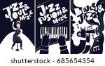 black and white jazz festival... | Shutterstock .eps vector #685654354