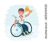 vector cartoon illustration of... | Shutterstock .eps vector #685654420