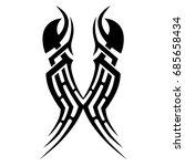 tribal tattoo art designs.... | Shutterstock .eps vector #685658434
