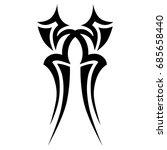 tattoo tribal vector design.... | Shutterstock .eps vector #685658440