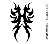 tribal pattern tattoo vector... | Shutterstock .eps vector #685658470