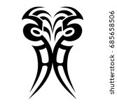 tattoo tribal vector design.... | Shutterstock .eps vector #685658506