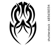 tribal tattoo art designs.... | Shutterstock .eps vector #685658554