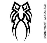 tribal tattoo art designs.... | Shutterstock .eps vector #685658560