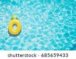 pineapple pool float  ring... | Shutterstock . vector #685659433