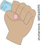clenched fist holding twenty...   Shutterstock .eps vector #685660090