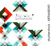 modern square geometric pattern ... | Shutterstock .eps vector #685668040